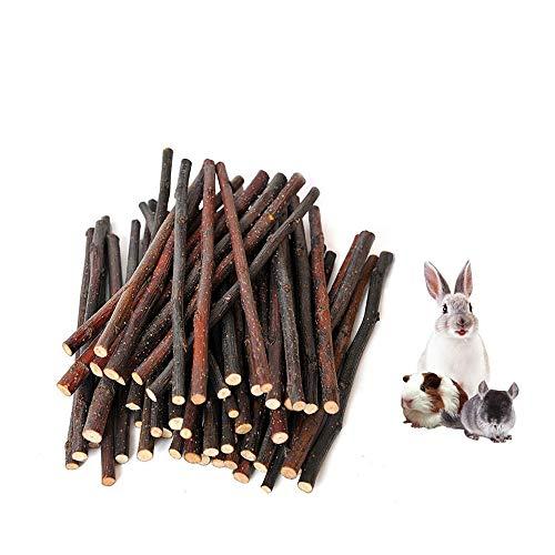 HongYH 200g, Apple, Apple, Kauspielzeug mit Zahnpflege, natur, 5-mm-Spielzeug für Kleintiere wie Kaninchen, Chinchilla, Hamster, Meerschweinchen, (ca. 50-70Stück -
