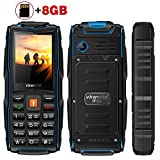 2017 Vkworld Stone V3 Outdoor Mobile Phone,2.4 inch+8GB Memory Card,IP68 Waterproof, Shockproof,Dustproof,Rugged Cell phone For elderly.(Triple Sim,Big Buttons,Powerbank USB Port,Long Standby,Flashlight,2MP Camera)