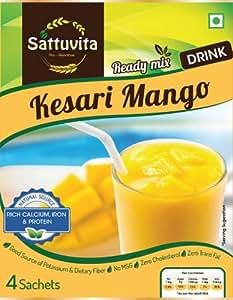 Sattuvita Drink, Kesar Mango, 40g (4 Sachets)