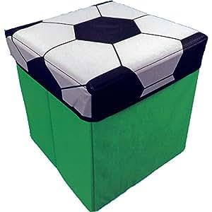 Coffre de rangement pour jouets Motif ballon de Football Vert