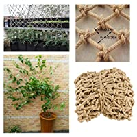 Child Safety Rail Net for Stairs, Railing Safety Net Children Fall Protection Safety Net Stair Balcony Anti-fall Net Hemp Rope Net Yard Decoration Retro Bar Ceiling Hanging Clothes Climbing Net Rope 6
