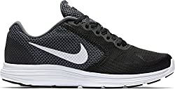 Nike Mens Revolution 3 Dark Grey, White and Black Running Shoes -6 UK/India (40 EU)(7 US)