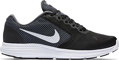 Nike Herren Revolution Laufschuhe, Schwarz (Dark Grey/White-Black 001), 43 EU