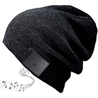 Blue ear® Bluetooth Beanie Wireless Knitted Winter Hats With Stereo Speakers 200mAh Battery Up to 8 Hours Playing Time Perfect For Outdoor Exercise And Workout