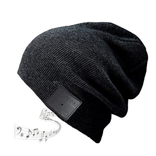 Bluetooth Beanie Mütze BLUEEAR Waschbare Freizeit Bluetooth Baggy Hats Kopfhörer mit akustischem Stereolautsprecher und Freisprecher-Telefonbeantwortung und bis zu 8 Stunden Wiedergabezeit