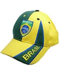 Fan Cap Brasilien Brasil NEU gelb Kappe Flagge Basecap