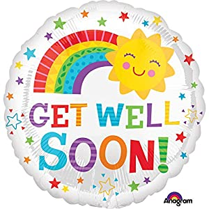 Burton y Burton Get Well Soon Lámina/Mylar Balloon