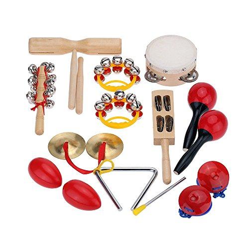 Andoer® Schlagzeug Set Kinder Baby Musikinstrumente Spielzeug Band RhythmusSet mit Kasten