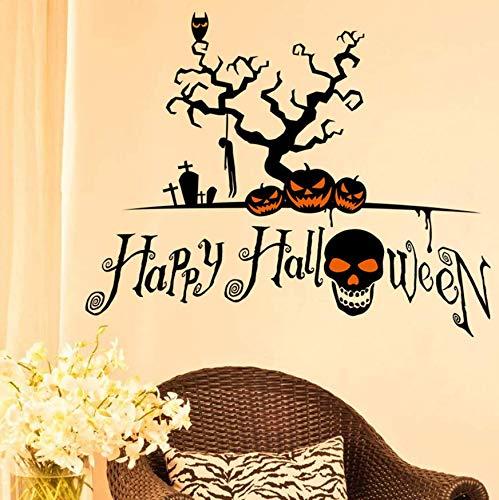 Pumpkin Cartoon Wall Sticker Window Home Decoration Decal Decor Stickers Halloween Decor Window Vinyl Decal Sticker (Halloween Pumpkin-baum Cartoon)