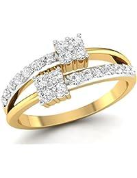 LOLLS 14K Rhodium Plated On Pure 925 Sterling Silver 0.58 TCW CZ Diamond Round Cut Designer Ring [LOLLS_BAR3438...