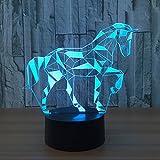 Neuheit Puzzle Pferd 3D Illusion Lampe führte Nacht Licht mit
