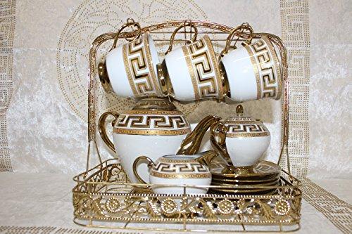 Bavary Medusa Service Kaffee Tee Set Gedeck 15 tlg Tassen Geschirr Porzellan Versac Style