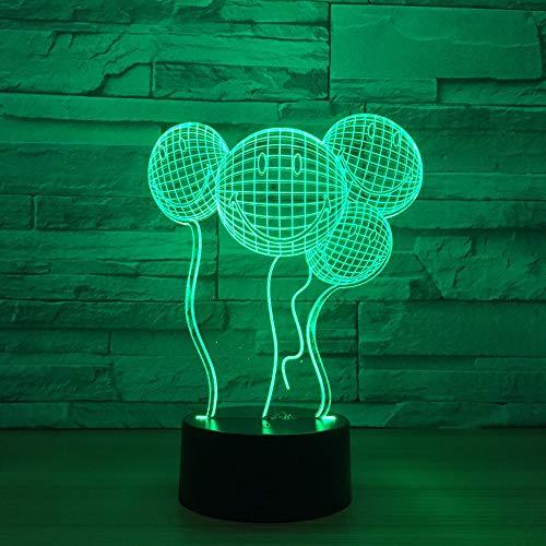 BDQZ Neue ausgefallene geschenke kreative lächelnd 3d leuchten luftballons led lichter musik nachtlichter großhandel kinder lampe