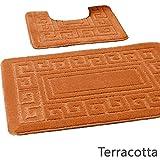 Lifestyle Production Badeset, weich, Rutschfest und waschbar Terracotta