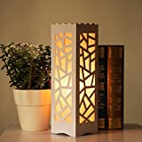DZQA Modern European Style Table Lamp, Living Room Study Table Lamp, Bedroom Bedside Night Light, Carved Decorative Square Lamp, Energy Saving Lamp- Design And Color As Per In Stock