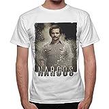 thedifferent T-Shirt Uomo Maglia Narcos Serie TV Pablo Escobar - Bianco