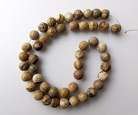 Jasper trou Grande pierre précieuse, perles, 7mm Jasper Perles rondes lisses, Foret de 1mm, 33cm Strand, Gds423
