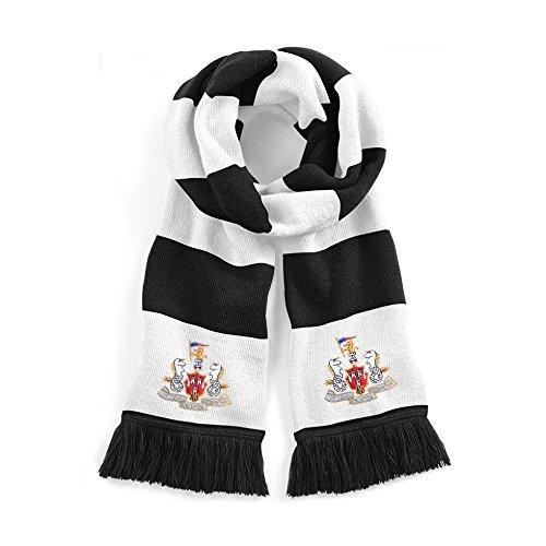Retro Newcastle United Años 60 Tradicional Bufanda De Fútbol Logotipo Bordado