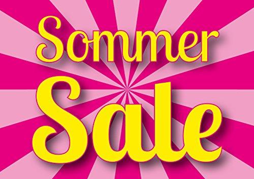 Poster Plakat - SSV Sommer SALE Candy im Querformat DIN A2 - 42 x 59,4 cm