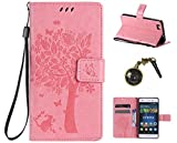 PU Silikon Schutzhülle Handyhülle Painted pc case cover hülle Handy-Fall-Haut Shell Abdeckungen für (Huawei P8 Lite) +Staubstecker (A1)