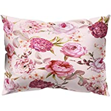 e8862ce06f4 VJGOAL impresión Floral Suave Piel de melocotón Terciopelo Funda de  Almohada decoración para el hogar cómodo