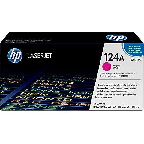 HP Q6003A - Cartucho de tóner HP 124A LaserJet, magenta