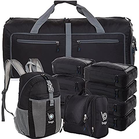 Lightweight Family Travel Set - All the Luggage and Packing Accessories you need (Black)