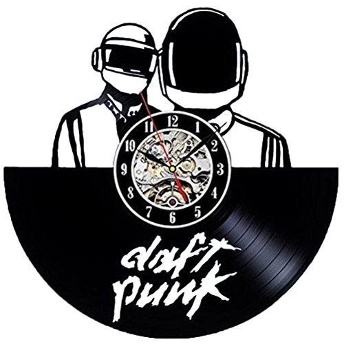 ADFHGFJ Punk Vinyl Wanduhr Retro Wohnkultur Wall Clock