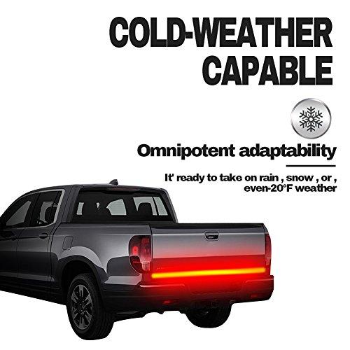 IP67 Zweireihige Fahrzeug Heckklappe Lichtleiste Flexible Led-streifen Lauf Blinker Bremse Rücklicht für Anhänger SUV RV VAN Auto