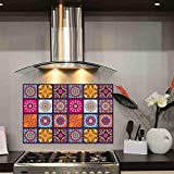 Wall Attraction™ Waterproof and Oil-Proof Temperature Resistant Self Adhesive Peel Off Easy Clean Beautiful Wall / Tiles Sticker