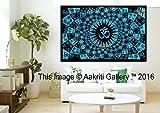 Diseño único turquesa Full colgante de pared Arte Decor mandala tapices Hippie dormitorio 84 x 55...