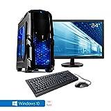 Sedatech Pack complet PC Gamer Casual AMD Ryzen 3 2200G 4x 3.5Ghz (max 3.7Ghz), Radeon Vega 8, 8Go RAM DDR4, 120Go SSD, 1To HDD, USB 3.0, Wifi, CardReader, Alim 80+. Unité centrale avec moniteur TFT-LED 21.5', clavier & souris et Windows 10 64 Bit