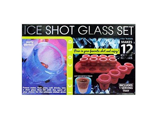 12Piece Ice Shot Glass Set with Bonus Tray Home Kitchen Furniture Decor by Bulk Buys