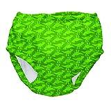 Iplay Baby Kinder Ultimate Swim Diaper Schwimmwindel UV-Schutz 50+ waschbar Windelhose Badewindel Aquawindel, Jungen Boys, olive dino, Größe: XL bis 24 Monate