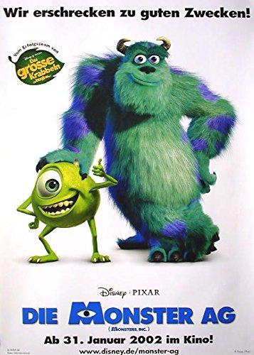 Die Monster AG - (Monsters, Inc.) (2001): Teaser | original Filmplakat, Poster [Din A1, 59 x 84 cm]