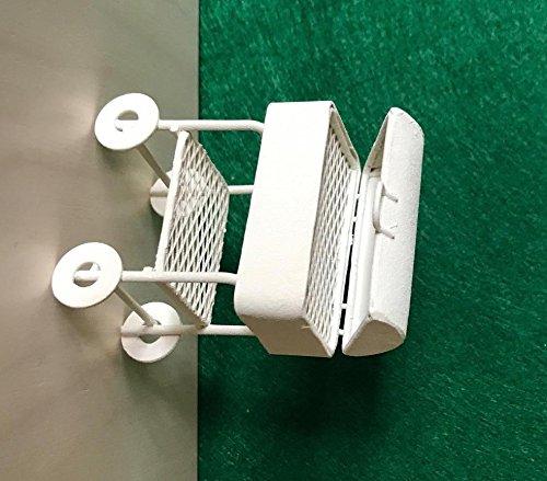 Dekop Miniatur Modell, Grill, weiß 5,5 x 3,5cm Höhe 6,5cm (444444635096453)