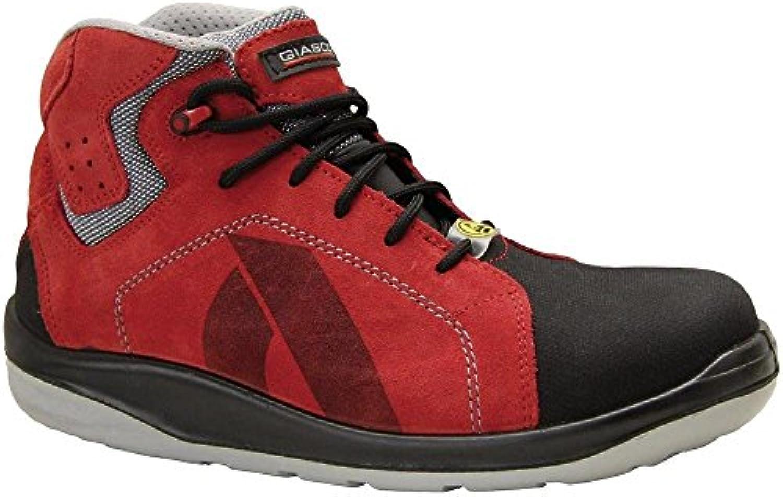 Giasco - Calzado de protección de Material Sintético para hombre Rojo rojo/negro