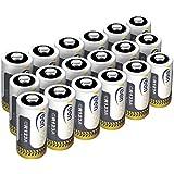 Keenstone CR123A Batteries lithium cylindrique jetable de haute performance pour Lampe de poche Appareil numérique de photo Caméscope Jouets Torche (lot de 18)