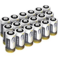 18 X CR123A 3V Batterie, Keenstone Typ 123 Lithium Batterie Einweg Ultra Power und High Performance für Taschenlampe, Kamera, Camcorder, Spielzeug Fernbedienung, Taschenlampe