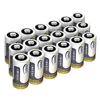Keenstone 18pcs CR123A Batteria a Litio Monouso ad Alte Prestazioni, Non Ricaricabili, Ideale per Flashlight, Fotocamera Digitale, Videocamera, Giocattoli, Macchina Fotografica, Torcia (NON per ARLO)