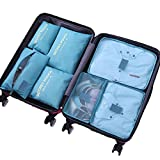 Best Travel Luggage Sets - 7 Set Packing Cubes - WantGor Travel Luggage Review
