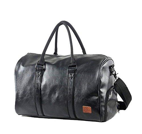 Moceal Großräumige Vintage Leder Herren Handgepäck Sporttasche Overnight Duffel Bag Damen Reisetasche für Wochenend Urlaub