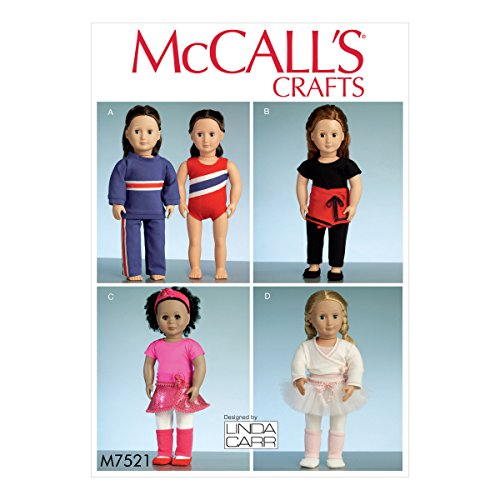 McCall' s Patterns 7521-Cartamodello OS vestiti per bambole, 45,7cm, colore colore