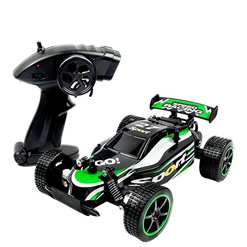 SZJJX RC Cars Rock Off-Road Vehicle Climber Truck 2.4Ghz 2WD High Speed 1:20 Radio Remote Control Racing Cars Electric Fast Race Buggy Hobby Car (Green)