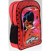 Total Office TRD SRL Miraculous Lady Bug Deluxe 41cm Backpack Front/Side Pockets Back to