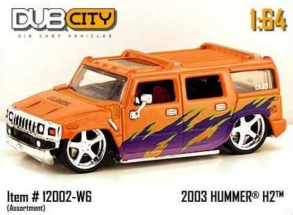 jada-dub-city-orange-purple-2003-hummer-h2-164-scale-die-cast-car-by-jada-toys