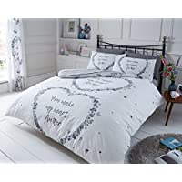 Artistic Fashionista New Luxurious Quality & Modern Design FLUTTER Duvet/Quilt Cover Set With Pillowcases Bedding Set (Grey, King)