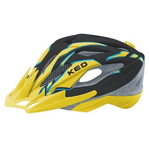 KED Fahrradhelm Street Jr. PRO in der Größe S (Kopfumfang 49-55cm) Black Yellow Matt - Allrounderhelm in Robuster maxSHELL- Technologie und Quicksafe-System