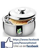 #7: Parasnath stainless steel Chapati Box/Casserole set/Bread container /hot pot-1800 ML