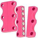 ILM Magnetische Schuhbinder (rosa) - magnetische Schnürsenkel - Stärke N42
